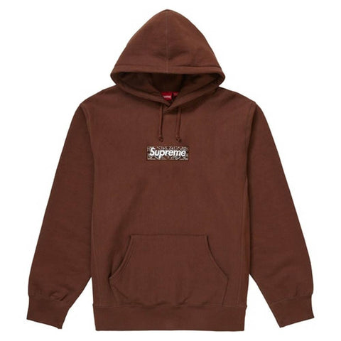 Supreme Bandana Box Logo Hooded Sweatshirt Dark Brown - Kick Game