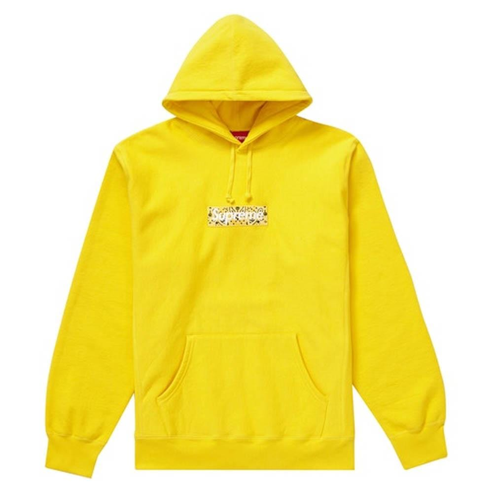 Supreme Bandana Box Logo Hooded Sweatshirt Yellow - Kick Game