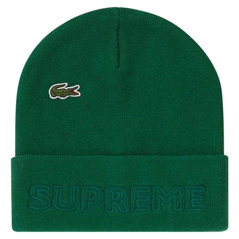 Supreme LACOSTE Beanie Green - Kick Game