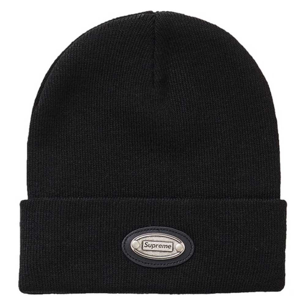 Supreme Metal Plate Beanie Black - Kick Game