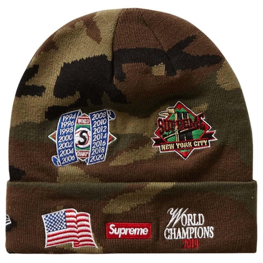 Supreme New Era Championship Beanie Woodland Camo - Kick Game