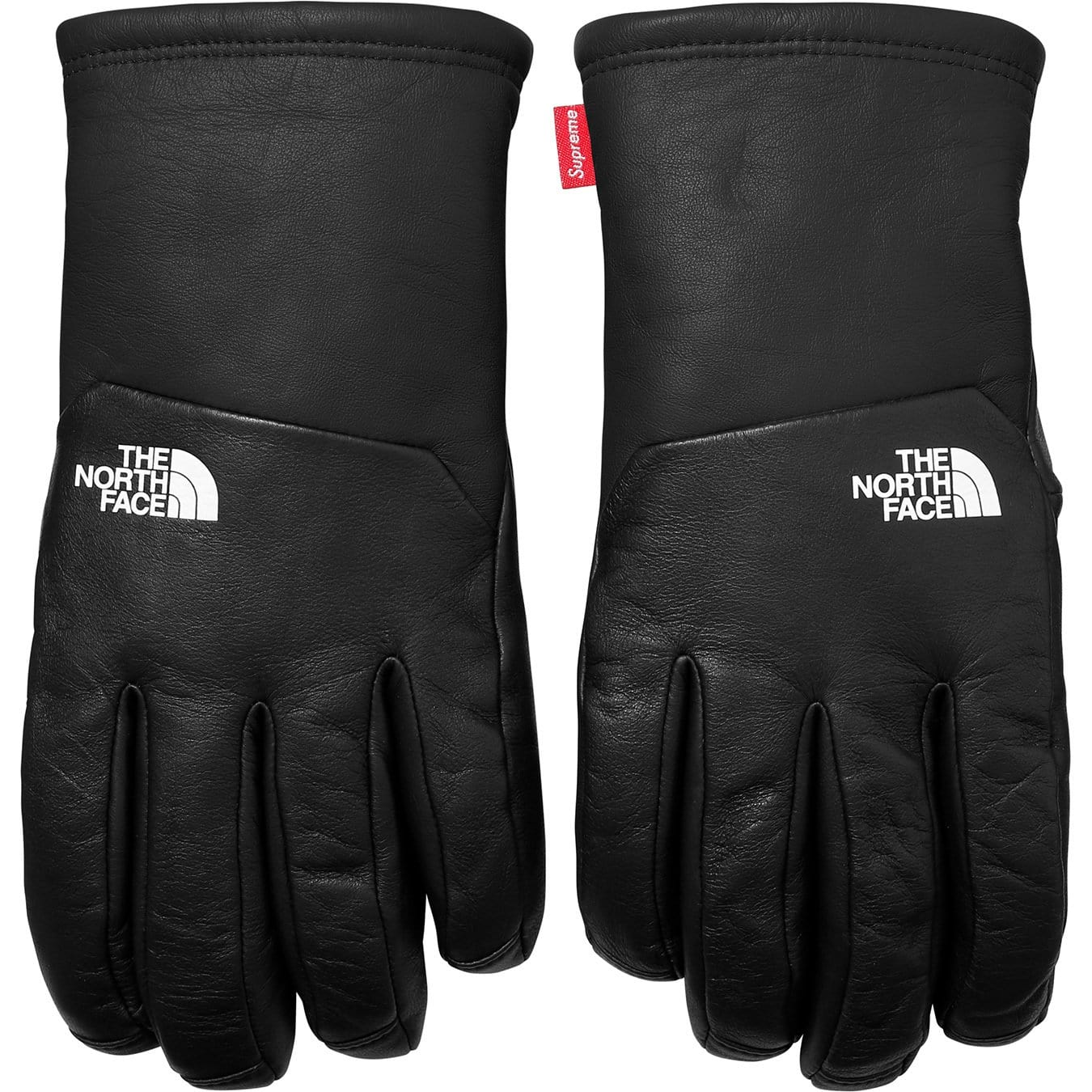 Supreme-The North Face Leather Gloves - Black - Kick Game