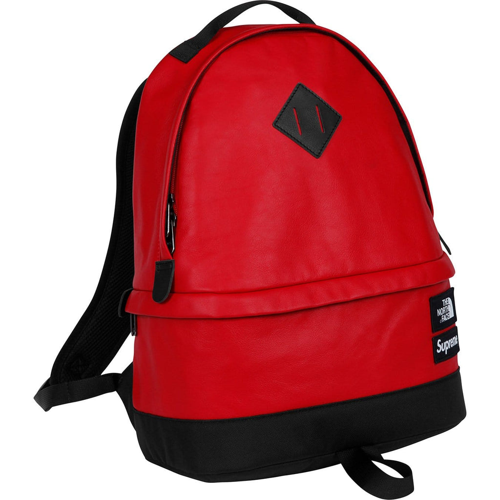 Supreme-The North Face Leather Day Pack - Red - Kick Game