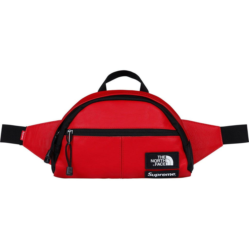 Supreme-The North Face Leather Roo II Lumbar Pack - Red - Kick Game
