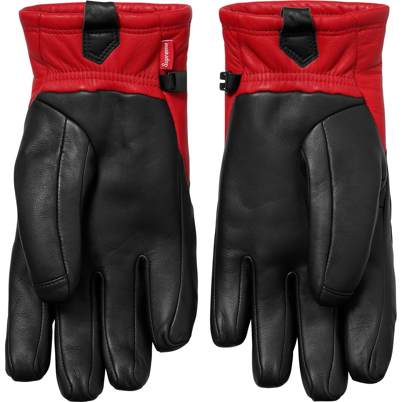 Supreme-The North Face Leather Gloves - Red - Kick Game