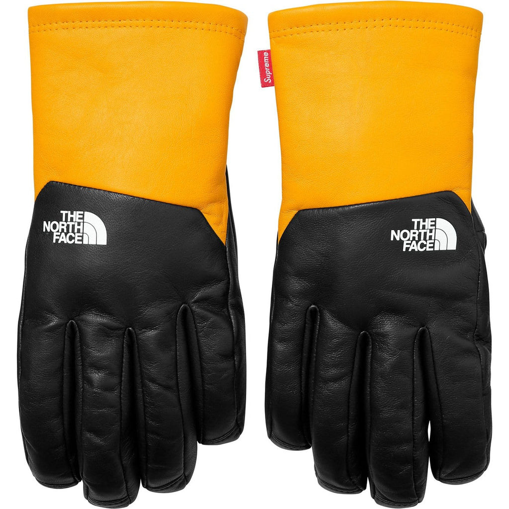 Supreme-The North Face Leather Gloves - Yellow - Kick Game
