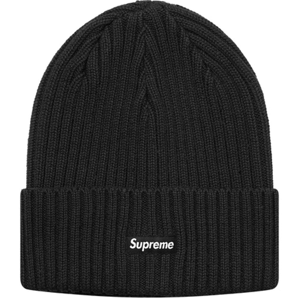 Supreme Overdyed Ribbed Beanie (SS18) Washed Black - Kick Game