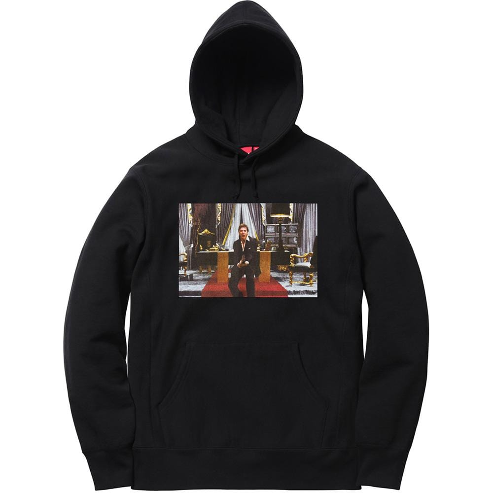 Supreme Scarface Friend Hooded Sweatshirt - Black - Kick Game