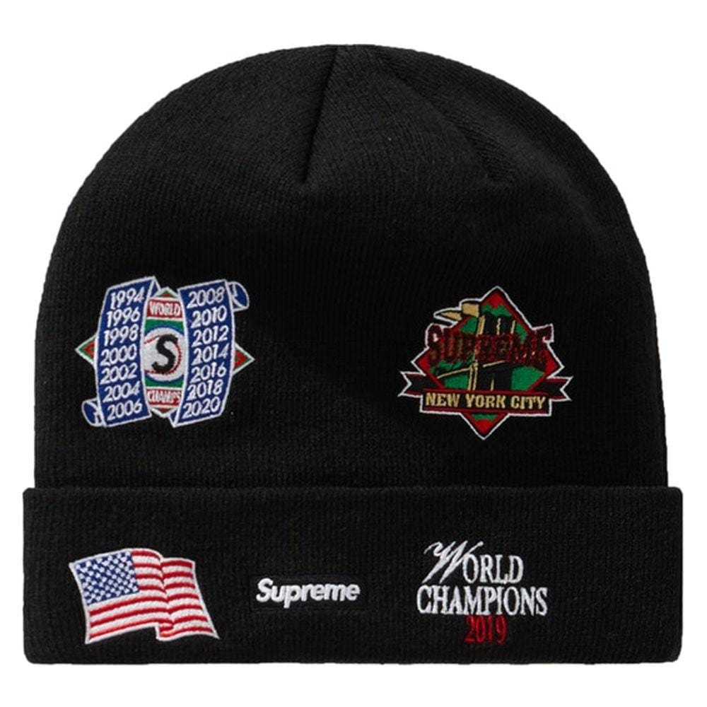 Supreme New Era Championship Beanie Black - Kick Game