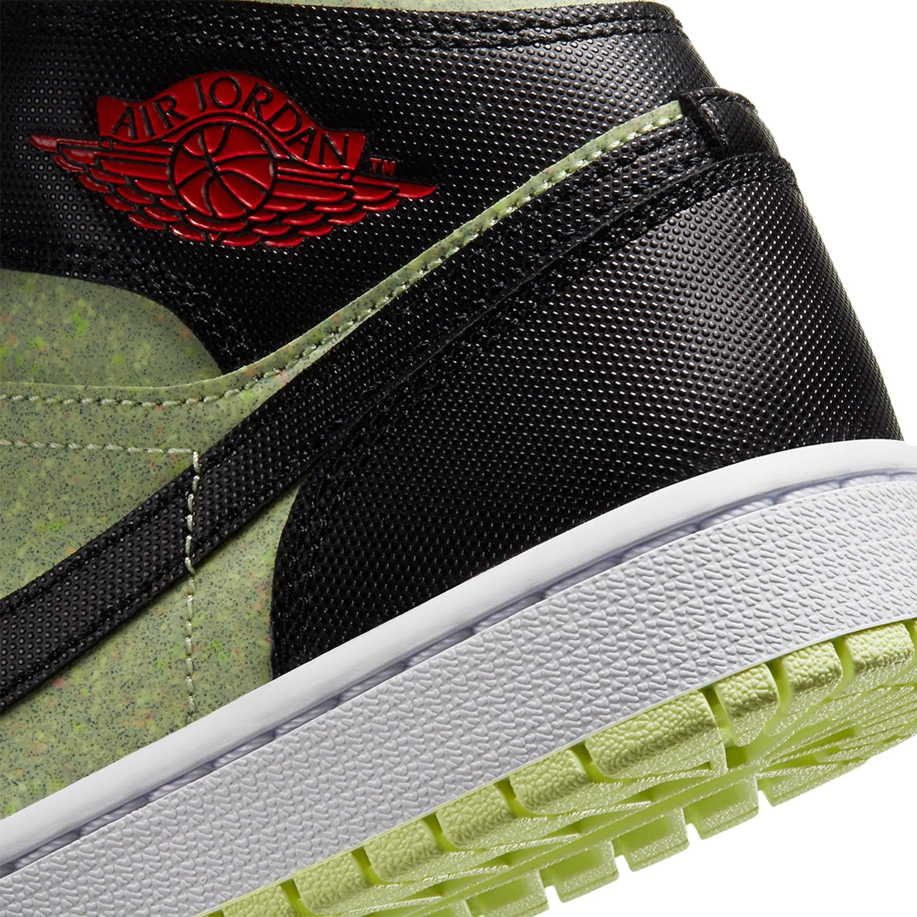 Air Jordan 1 Wmns Mid SE 'Black Barely Volt' - Kick Game