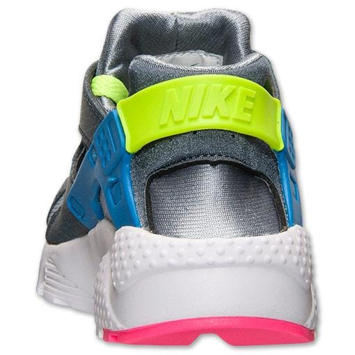 Nike Air Huarache Junior 'Dark Magnet Grey-Volt-Cobalt Blue' - Kick Game