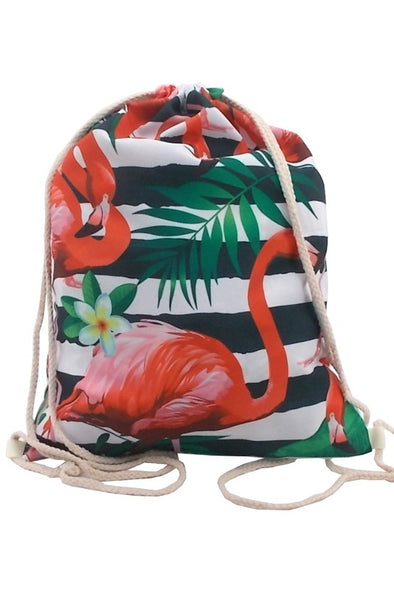 Gym sack Flamingo Tropical