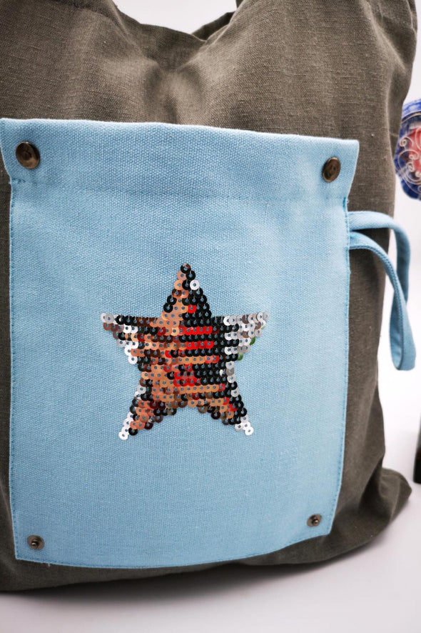 Bolsa de Tela Plegable Mini Star.