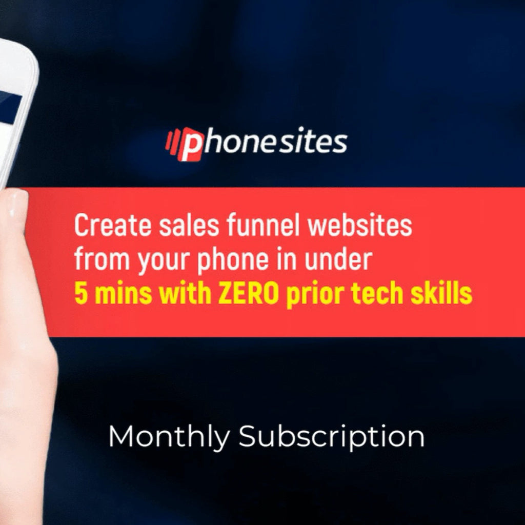 Phonesites - Monthly Subscription