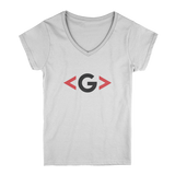 GCODE Sharp Brackets Light V-Neck Tee