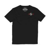 GCODE Sharp Brackets Dark V-Neck Tee