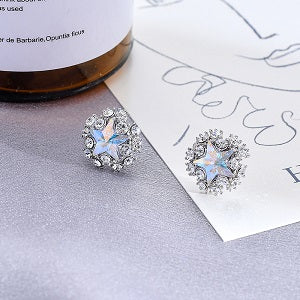 Zircon Small Star Stud Earrings
