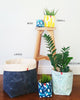 Fabric Buckets | Tribal Dash