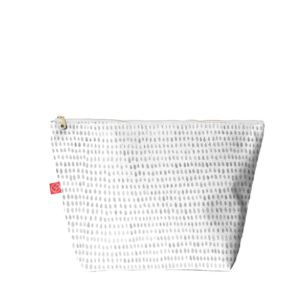 Travel Pouch | Painted Spots Grey