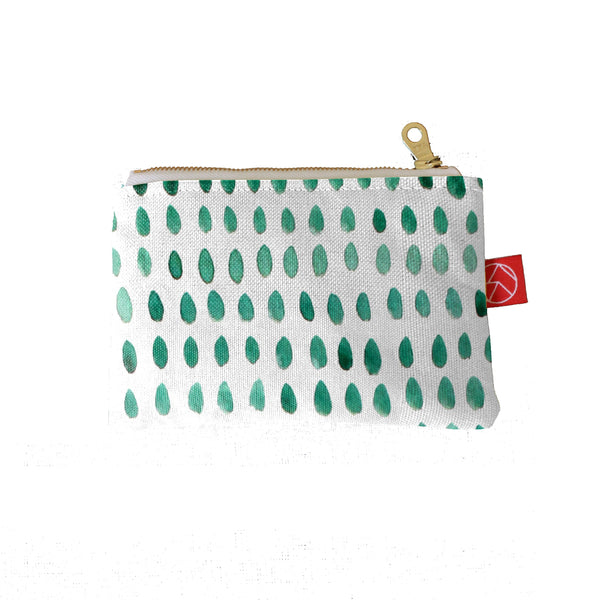 Mini Pouch | Spots Green