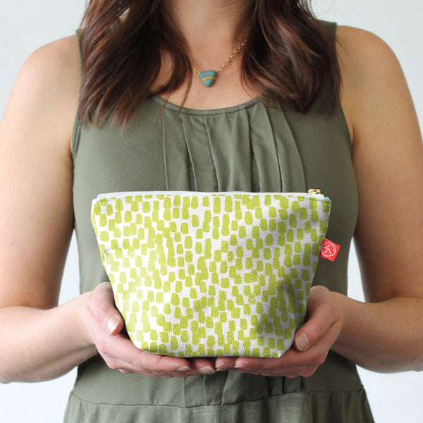 Ready to Ship - Small Travel Pouch | Lime Fleck