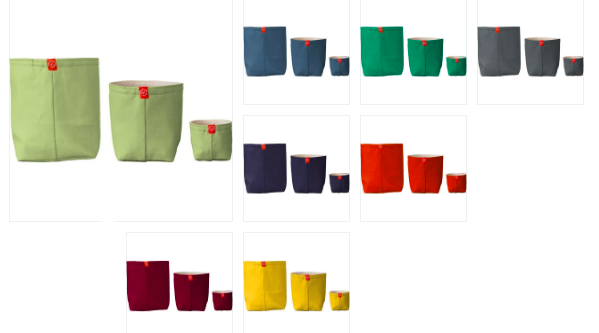 Fabric Buckets In Solid Colors (mult. sizes and colors)
