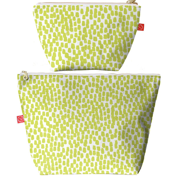 Travel Pouches | Lime Fleck