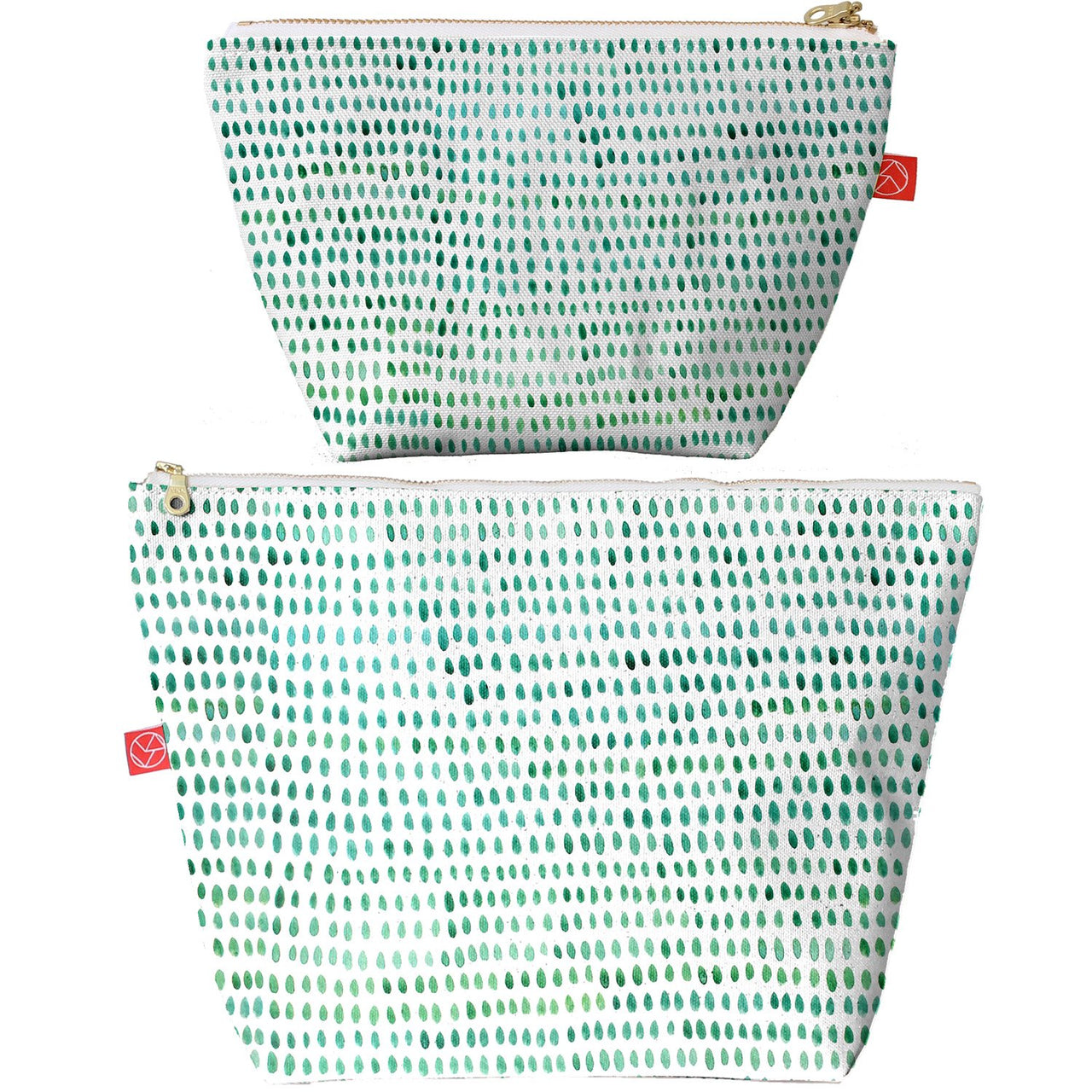Travel Pouches | Spots Green (small or large)