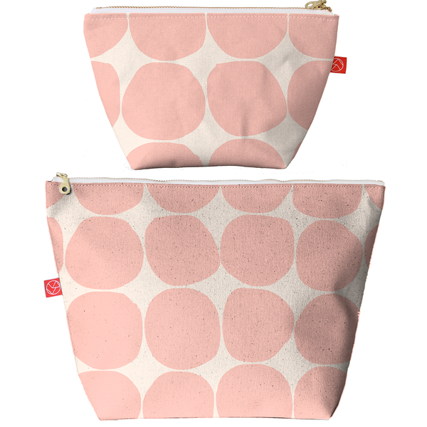 Travel Pouches | Stones Blush