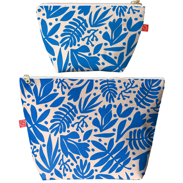Travel Pouches | Tropical Cobalt