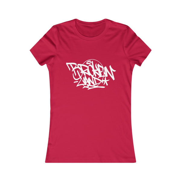 Women Broken Land Tag Tee