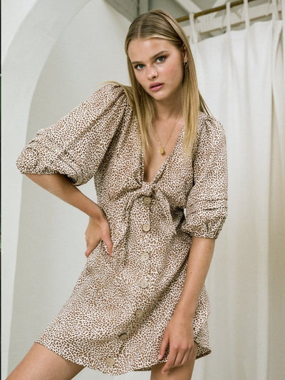Anouk Linen Mini Dress
