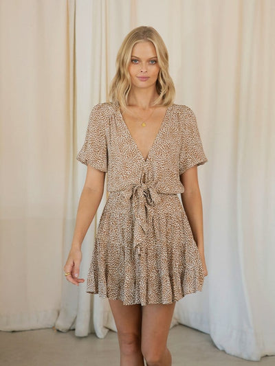 Anouk Tie Front Mini Dress