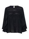 Emmison Lace Blouse - Black