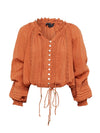 Greta Blouse - Russet - Final Sale