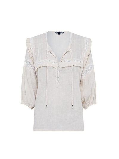 Camille 3/4 Blouse - Natural