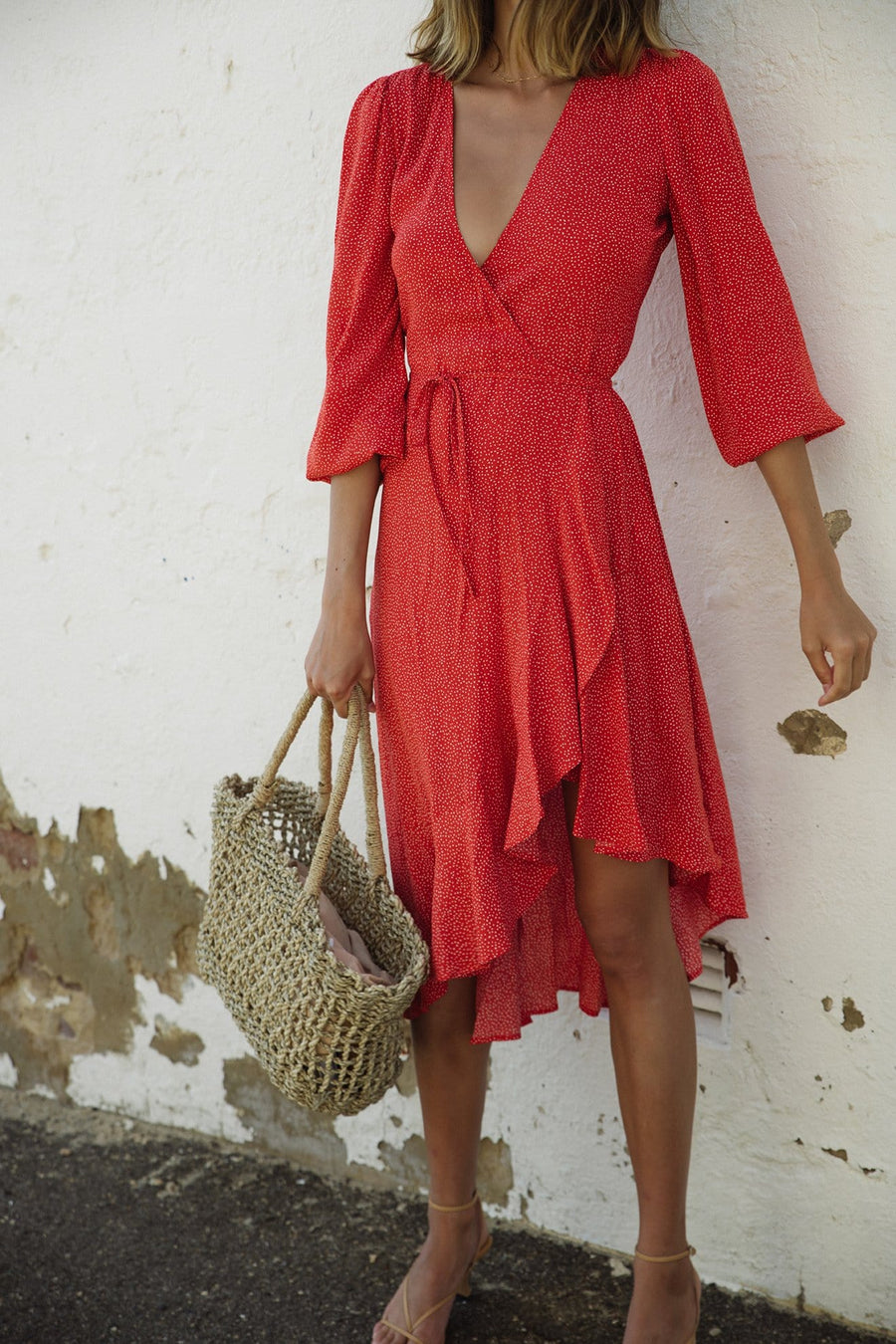 Frankie Wrap Midi Dress