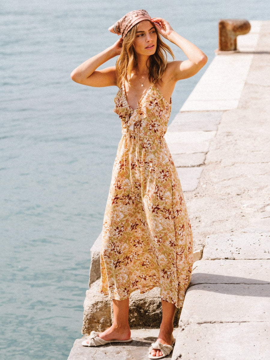 Mahli Floral Slip Midi Dress
