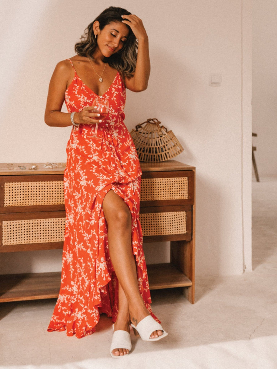 Oasis Strappy Maxi Dress