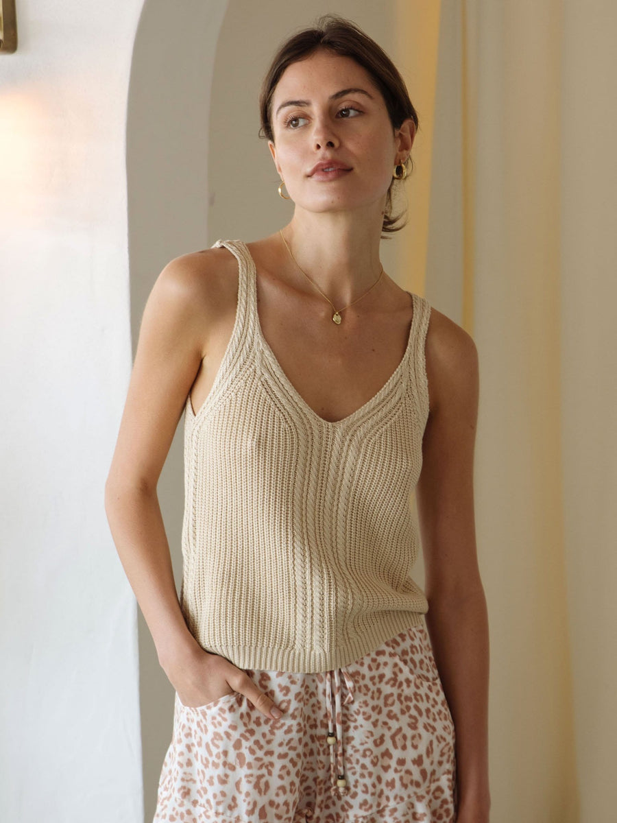 Raven Cami Knit Natural - Final Sale