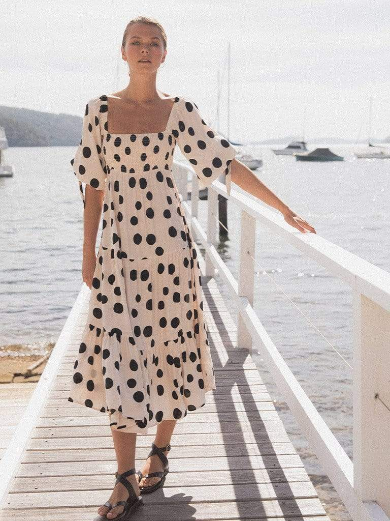 Rammy Polka Midi Dress