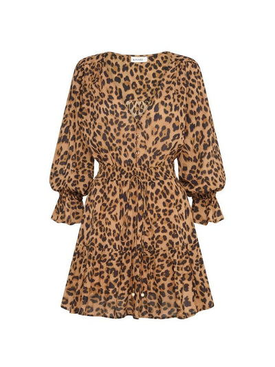 Hazel Leopard Cotton Mini Dress
