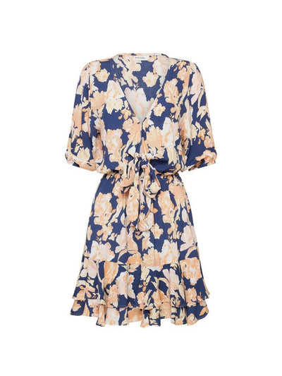 Briar Floral Tie Front Mini Dress