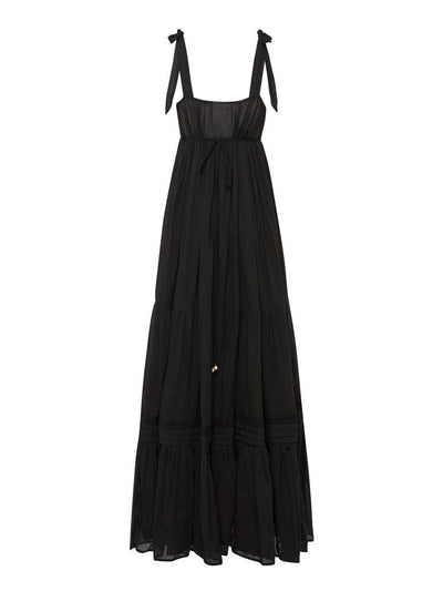 Todos Lace Maxi Dress Black