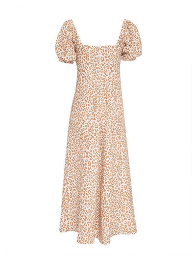 Zion Leopard Linen Maxi Dress - Final Sale