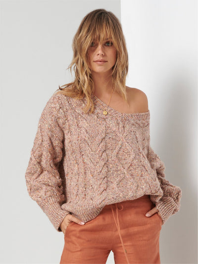 Bella Cable Knit Jumper - Rose