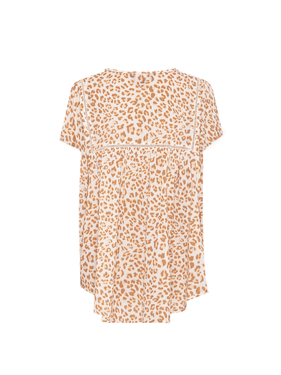 Zion Leopard Blouse - Final Sale