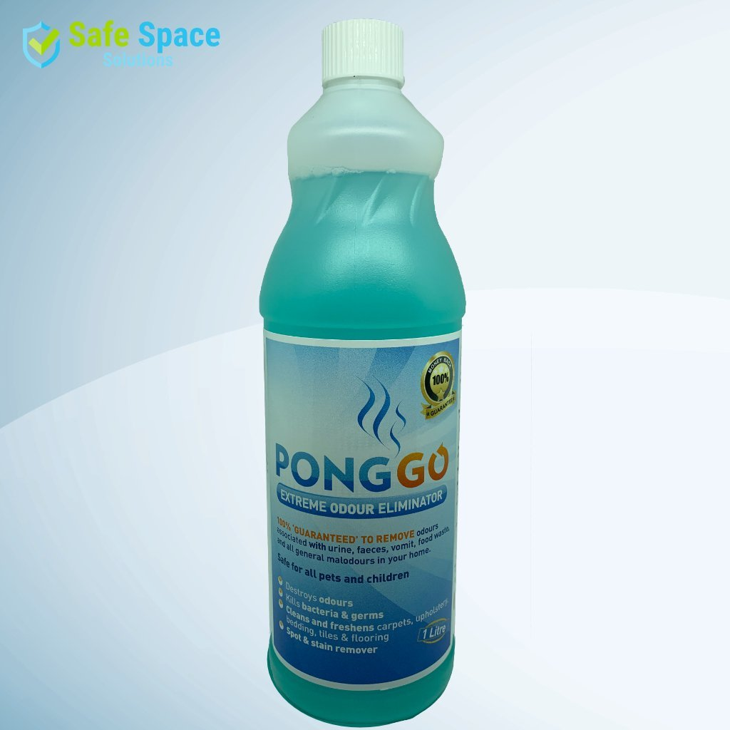 Pongo - Extreme Odour Eliminator - Spot and Stain Remover 1Ltr - Safe Space Solutions Ltd