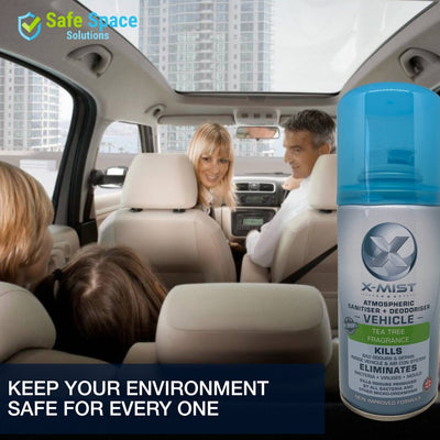 Triple Pack: X-Mist Vehicle Sanitiser & Deodoriser - 150ml - Safe Space Solutions Ltd