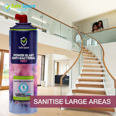 "Twin Pack: Safe Space ""Power Blast"" Air and Surface Sanitiser and Deodoriser - 750ml - Safe Space Solutions Ltd"